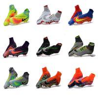 Wholesale New Original Mercurial x EA SPORTS soccer cleats hypervenom phantoms jr cr7 soccer shoes mercurial superfly fg football boots magista Obra
