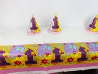 Wholesale One year old Flower Theme Girl Birthday Party Decoration Birthday Party Decorations Kids Plastic Table Cloth Size cm X cm
