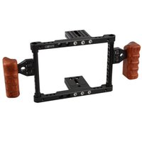 Wholesale CAMVATE DSLR Video Camera Cage Stabilizer Rig Wooden grip for Canon Nikon Sony Panasonnic