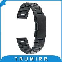 Motorola smartwatch Prix-Wholesale-20mm bracelet en acier inoxydable Smart Bracelet Bracelet montre pour Motorola Moto 360 2 2ème génération 2015 42mm Smartwatch Noir Argent