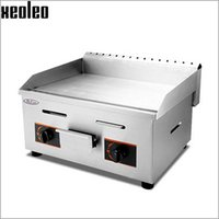 Wholesale Xeoleo Commercial Gas Griddle Flat pan Griddles Gas Flat Griddle Stainless Steel Restaurant Frying Equipment
