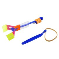 Wholesale New Arrow Helicopter Amazing Flying Umbrella Kids Toy Space UFO LED Light Christmas Halloween Flash Toys