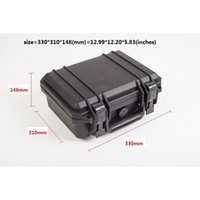 Wholesale Waterproof Hard Case with foam for Camera Video Equipment Carrying Case Black ABS Plastic sealed safety portable tool box DJ9002