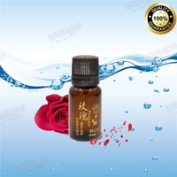 Cheap Wholesale-1Pcs Lot Pure Plant Essential Oil Rose Body Massage Oil 10ml Kneepad Thermal Body Rose Essential Oil For Scrape Therapy SPA