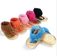 Wholesale 2017 summer Tassel baby sandals boys girls toddler casual shoes Multicolor high top baby shoes newbor floor shoes pairs SX