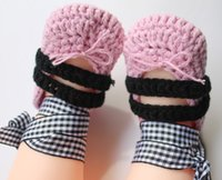 Spring / Autumn ballerina shoes white - Crochet baby girl ballerina shoes ribbon lace tied bow booties M cotton yarn
