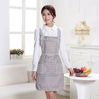 Wholesale Fashion APRONS TO AMERICA thickening double waterproof lovely and sweet female adult cooking kitchen apron
