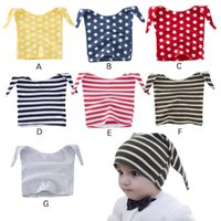 best baby hats - New Spring Autumn Fashion baby hat stripe Dots jester cap kids Children Beanie Hat Caps boys girls cotton best Beanie Newborn Lovekiss A5