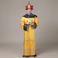 Wholesale The Qing Dynasty Emperor Clothing Dragon Robes Huang Ama Clothing Wedding Film and Television Performance Clothing