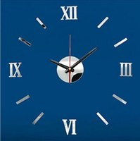 Wholesale New Colors DIY Home Modern D Mirror Wall Clock Sticker Home Living Room Decor Hot