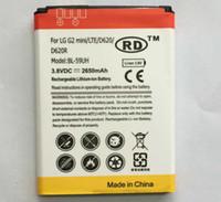 Wholesale battery BL UH For LG G2MINI D620 D410 L65 D285 BL59UH for LG G2 mini Replacement Battery RD ship by UPS
