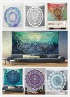 Wholesale 100pcs cm Bohemian Mandala Beach Tapestry Hippie Throw Yoga Mat Towel Indian Polyester Beach Shawl Bath Towel