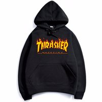 Wholesale New Hip Hop Trasher Men Sportswear Hooded Sweatshirts Mens Pullover Hoodies Male Thrasher Hoodie Sport Suit