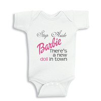baby steps clothing - Step Aside Barbie There s a new Doll in Town Funny baby onesie baby white outfit boy girl gift clothes newborn baby