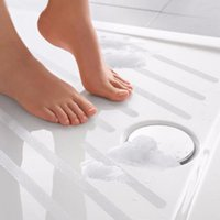 bath tub appliques - Fashion Anti Slip Bath Grip Stickers Non Slip Shower Strips Pad Flooring Safety Tape Mat Applique Stickers Bath Tub Shower