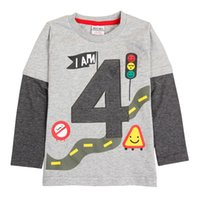 Wholesale 2017 New Boys Cotton Long Sleeved T shirt printed cartoon series children s children s high quality children s wear