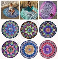 Wholesale Round Mandala Beach Towels Printed Tapestry Hippy Boho Tablecloth Bohemian Beach Towel Serviette Covers Beach Shawl Wrap Yoga CCA5613