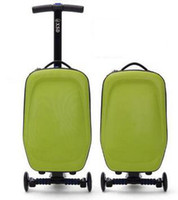 Wholesale Simple fashion unisex color wheels spinner scooter luggage sports Aluminum Alloy and PC ABS material travel luggage scooter
