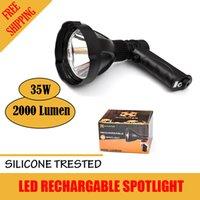 Wholesale XHUNTER W CREE T6 V RECHARGABLE SPOTLIGHT SHOOT HANDHELD LED SPOT LIGHT LASER