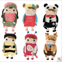 Wholesale Hot Cartoon Metoo Baby Plush Toys backpack animal Children s Angela plush school bags