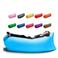 Wholesale Fast Inflatable Air Sleeping Bag Hangout Lounger Air Camping Sofa Portable Beach Nylon Fabric Sleep Bed lazy sofa