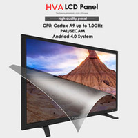 Wholesale inch TV Smart android Fashionable narrow edge High definition LCD TV USB support multimedia set top box antenna