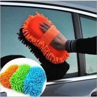 Wholesale car wash microfiber Snow Neil fiber high density car wash mitt car wash gloves towel