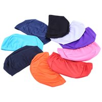 Wholesale High Quality Elastic Nylon Protect Ears Swimming Cap Hat Ultrathin Adult Bathing Caps for Men Women Colors