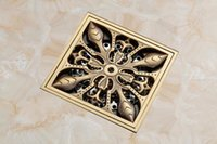 Wholesale x10cm antique bronze brass Floor Drain Cover for Bathroom Accessory On Sale DR004
