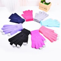 Wholesale Touch Screen Gloves For Smart Phone Iphone Ipad Knit Wool Men Women Full Finger Winter Screen Conductive Gloves Touch Knitted Mitten F305