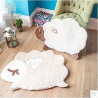 Wholesale Creative cartoon children bedroom carpet bed room bed rug cute soft sheep household multi functional pad carpet