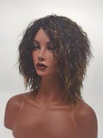 HWG1240 2017 Nuevas pelucas del estilo de la manera para todas las mujeres Hairstyle corto Curly rizado 100% calor Fibra sintética Pelucas Perruque Afro Perucas