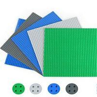 Plastics base plates - Building Blocks Base Plate small particle building blocks assembled puzzle baseplate x25 cm DIY Toys Baseplate