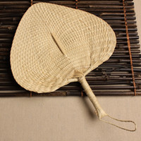 animal poetry - Chinese hand fan Straw wedding souvenirs home decoration crafts vintage poetry hand woven ladies and family fans