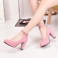 Pumps aa wills - 2017 New Pattern Circle Head Coarse With Single Shoe Han Banrong Noodles Ankle Bandage Women s Shoes Will Code Waterproof Platform Shoes