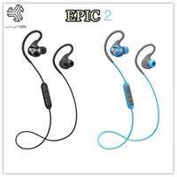 audio fitness - JLab Audio Epic2 Wireless Sport Earbuds Bluetooth Headphones Earphones GUARANTEED fitness waterproof IPX5 rated skip free sound pristine