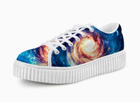 Unisex animal platform - High quality d print aninals canvas platform shoes new arrival spring thick sole shoes womens girls beautiful shoe