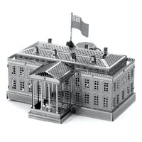american architecture - White House D Metal Puzzle DIY Stainless Steel Assembly American Building Model Architecture Toy Magnetic Puzzle Kids Toys