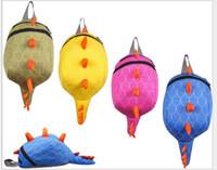 Wholesale 5colors Dinosaur kids Cartoon backpack kindergarten girls boys children backpack school bags animals dinosaurs snacks