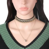 Wholesale European and American Fashion Accessories Jewelry Choker Necklace Korea Velvet Pendant Necklace