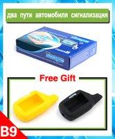 Wholesale two way car alarm system Starlionr B9 with remote engine start B9 case Russian version way car alarm system B9