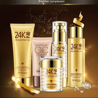 Wholesale 5pcs set IN STOCK Original Quality Moisturizing Whitening Anti aging K Gold Skin Care Antiwrinkle Firming Skin Protection Cream By DHL