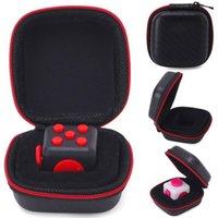 Wholesale Portable Zipper Case for Fidget Cube Toys fidget cube bag best selling High Quality zipper case With black colors DHL