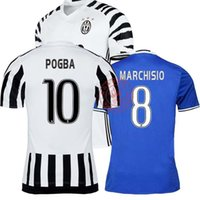 Wholesale 2016 Juventuses POGBA home away blue MORATA Dybala pjanic rd sport men clothing DISCOUNT SALE