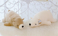 Wholesale Cute polar bear sleeping pillow Papaxiong plush toy doll Creative large children s puppet doll cm Plush Doll