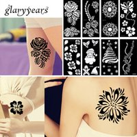 Wholesale Designs Piece Henna Tattoo Stencil Waterproof Flower Lace Design Sexy Women Body Art Tattoo Stencil Product Christmas Gifts