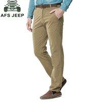 al por mayor papá del ejército-Venta al por mayor 30 ~ 44 2017 Nuevo Otoño Mens Plus Size espesar pantalones papá Pantalones Pantalones ocasionales de algodón Hombre Hombre recto Formal Cargo Ejército Pantalones