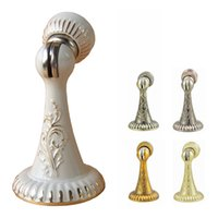 Wholesale Zinc Alloy Luxurious Magnetic Door Stopper Door Holder Door Stop Gold Antique Brass Yellow Bronze Copper White