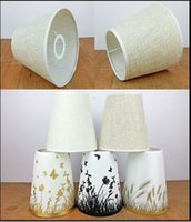 Wholesale Promotion Simple Style Screw E27 Quality Fabric Lamp Covers Shades Used for Small Table Lamps Wall Lights Lamp Chandelier Lighting Parts