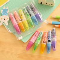 Wholesale Novelty Cartoon Animals Highlighter Fluorescent Pen Markers Gift Stationery FVD